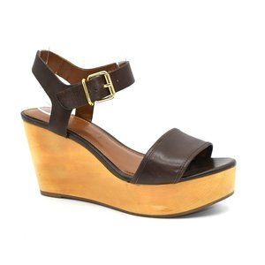 Banana Republic Wood Platform Sandal 5.5